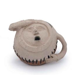 Tassa o gerra de ceràmica amb forma d'humà.